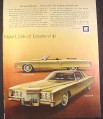 Magazine Ad for Cadillac Eldorado Convertible & Coupe Cars, Gold, 1970, 10 3/8 by 13 1/4