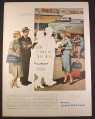 Magazine Ad for Pan American Airlines Pan Am 732 Clipper, Stewardess, Paris, 1957
