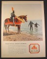 Magazine Ad for O'Keefe Ale Beer, Traditional Meets Modern, Knight & Divers, 1957