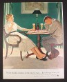 Magazine Ad for Beer Belongs, Chess, Illustration by Douglass Crockwell, 1955, 10 1/2 by 13 1/2