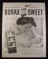 Magazine Ad for 20 Mule Team Borax Laundry Soap, Mother & New Baby, 1952, 10 1/2 by 13 1/2