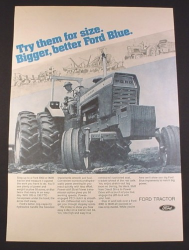 1972 Ford 9000 Tractor : Magazine ad for ford tractor blue