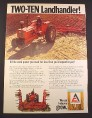 Magazine Ad for Allis Chalmers Two-Ten Landhandler Tractor Allis-Chalmers 1971 10 1/4 by 14 1/8