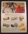 Magazine Ad for Kodak Cameras & Projectors, Christmas Gifts, 1962, 10 1/2 by 13 3/8