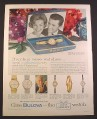 Magazine Ad for Bulova Watches, 6 Models, Gift Box, 1962, 10 1/2 by 13 3/8