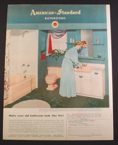 Magazine Ad For American Standard Bathrooms Pink Bathtub