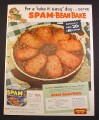 Magazine Ad for Spam, Spam Bean Cake Recipe, 1952, 9 3/4 by 12 1/2