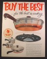 Magazine Ad for Revere Ware Copper Bottom Pots & Pans, 1952, 9 3/4 by 12 1/2
