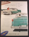 Magazine Ad for Oldsmobile Ninety Eight Car, Teal & White, 1954, 9 3/4 by 12 1/2