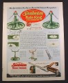Magazine Ad for Sunbeam Rain King Garden Sprinkler, 3 Models, 1954, 9 3/4 by 12 1/2