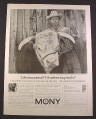 Magazine Ad for Mony Mutual of New York, Frank Womack Cattle Rancher, 1963, 10 1/2 by 13 3/4