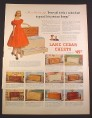 Magazine Ad for Lane Cedar Chests, 11 Models, Miss America, 1952, 10 3/8 by 14