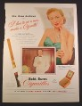 Magazine Ad for Robt. Burns Cigarillos Box, Dana Andrews Actress, Celebrity, 1952, 10 3/8 by 14