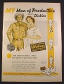 Magazine Ad for Dickies Shirts & Pants, My Man of Production Wears Dickies, 1952, 10 3/8 by 14