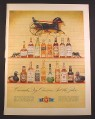 Magazine Ad for Canada Dry Ginger Ale, 16 Bottles of Alcohol, 1952, 10 3/8 by 14