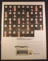 Magazine Ad for Remington Ten Forty Portable Typewriter 86 Keys Up Close 1966 10 3/8 by 13 3/4