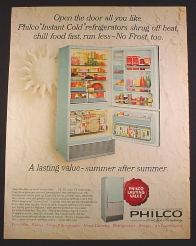 Magazine Ad For Philco Refrigerators Model 17rm48 Powder