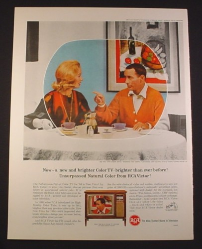 Magazine Ad for RCA Victor New Vista TV  Television, Joey Bishop Show, 10 1/2 by 13 3/4