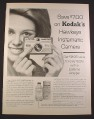 Magazine Ad for Listerine, Kodak Hawkeye Camera Offer, 1964, 10 1/2 by 13 3/4