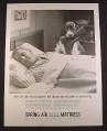 Magazine Ad for Spring Air Back Supporter Mattress, Dog with Rubber Boot, 1963, 10 3/8 by 13 5/8