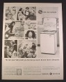 Magazine Ad for General Electric GE Mobile Maid Dishwasher, Halloween, 1963, 10 3/8 by 13 5/8