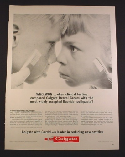 Magazine Ad for Colgate Toothpaste, 2 Kids Nose To Nose ...