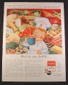 Magazine Ad for Campbell's Soup, Cartoon Chef With Mug of Soup, 1963, 10 3/8 by 13 5/8