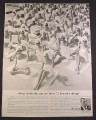 Magazine Ad for Bulova Watches, 73 Women in Towels, 1963, 10 3/8 by 13 5/8