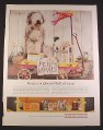 Magazine Ad for National Steel, Sheepdog & 2 Cats with Feed The Animals Sign, 1963