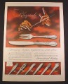 Magazine Ad for International Sterling Silverware, Rhapsody Pattern, 1956, 10 1/2 by 13 7/8