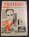 Magazine Ad for Kellogg's Special K Cereal, Protein, New Food Discovery, 1956, 10 1/2 by 13 7/8