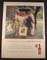 Magazine Ad for Four Roses Whiskey, Four Roses Society, 1958, 10 1/2 by 13 7/8