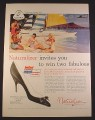 Magazine Ad for Naturalizer Pump Shoe, United Air Lines Hawaii Contest, 1958, 10 1/2 by 13 7/8