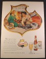 Magazine Ad for Falstaff Beer, Bottle & Can, Cleaning Shotgun, 1958, 10 1/2 by 13 7/8