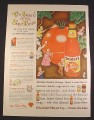 Magazine Ad for Snider's Catsup, Legend Of The Super Tomato, 1945, 10 1/2 by 13 7/8