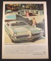Magazine Ad for GM Pontiac 67 Bonnevile, Front View, Pool, 1967, 10 1/2 by 13 3/4