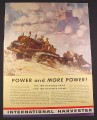 Magazine Ad for International Harvester Tractors, For Farms & Military, 1941, 10 1/4 by 14
