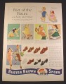 Magazine Ad for Buster Brown Shoes, 8 Styles, Children Playing, 1941, 10 1/4 by 14