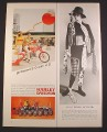 Magazine Ad for Harley Davidson M-65 Motorcycle, 7 Other Models, 1967