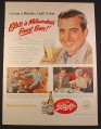Magazine Ad for Blatz Beer, Milwaukee's Finest, John Payne, Celebrity, 1951, 10 3/8 by 13 7/8