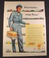 Magazine Ad for Pure-Pak Milk Containers, Milkman with Case, 1951, 10 3/8 by 13 7/8