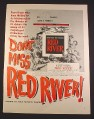 Magazine Ad for Red River Movie, John Wayne, Montgomery Clift, 1948, 10 3/8 by 13 7/8