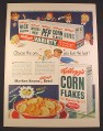 Magazine Ad for Kellogg's Corn Flakes & Variety Pack, Choose The One You Love, 1948