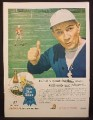 Magazine Ad for Pabst Blue Ribbon Beer, Football Player on Field, 1945