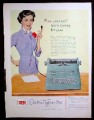 Magazine Ad for IBM Electric Typewriter, Secretary Illustration, 1953