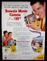 Magazine Ad for Brownie Movie Camera, Low Price 39.75, 1953