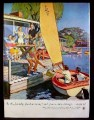 Magazine Ad for Beer Belongs, Picnic On The Bay, Number 84, John Falter, 1953