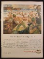 Magazine Ad for Veedol Motor Oil, Third Wave At Bougainville, Marines, WWII, 1944