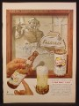 Magazine Ad for Falstaff Beer, Bottle & Can, Painting with Shield Logo, 1953