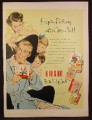 Magazine Ad for Gibson Father's Day Cards, 6 Cards, Dad Kids & Mom, 1953